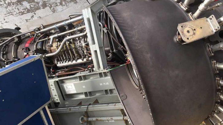 Techniekdag vliegtuigmotor